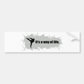 Karate is a Way of Life Car Bumper Sticker