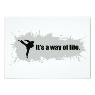 Karate is a Way of Life Card