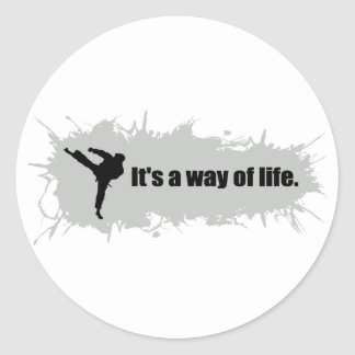 Karate is a Way of Life Classic Round Sticker