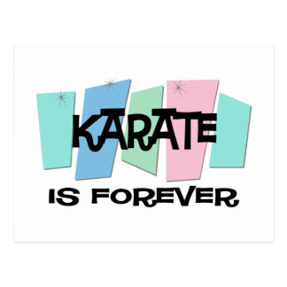 Karate Is Forever Postcard