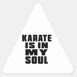 KARATE is in my soul Triangle Sticker