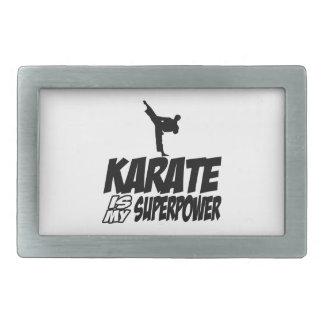 karate is my superpower belt buckle