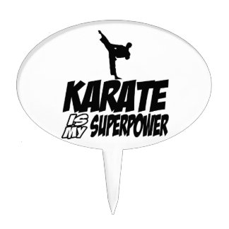 karate is my superpower cake toppers