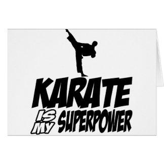 karate is my superpower card