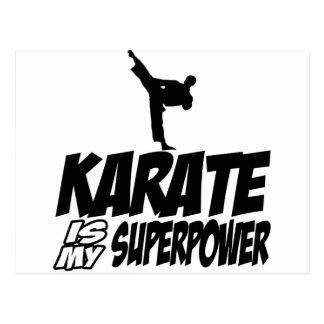 karate is my superpower postcard