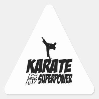 karate is my superpower triangle sticker