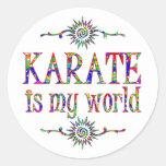 Karate is My World Classic Round Sticker