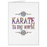 Karate is My World Greeting Card