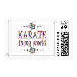 Karate is My World Postage Stamp