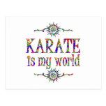 Karate is My World Postcard