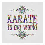 Karate is My World Posters
