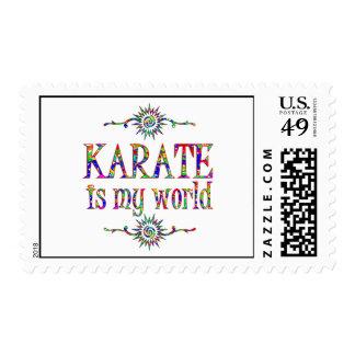 Karate is My World Stamp