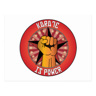Karate Is Power Postcard