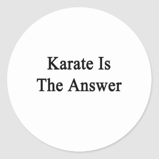 Karate Is The Answer Classic Round Sticker