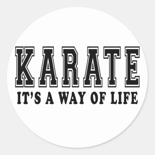 Karate It's way of life Classic Round Sticker