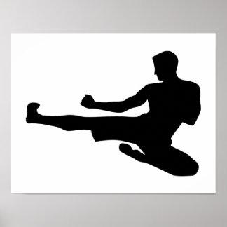 Karate jump kick poster