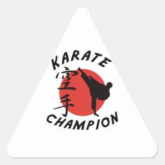 Karate Karate Champion Triangle Sticker