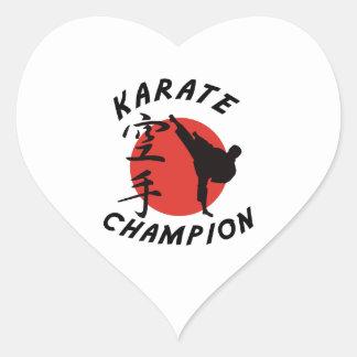 Karate Karate Champion Heart Sticker