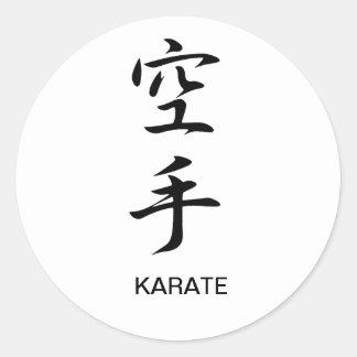 Karate - karate pegatinas redondas