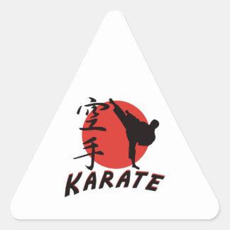 Karate Karate Triangle Sticker