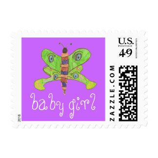 Karate Kat baby girl Postage Stamp