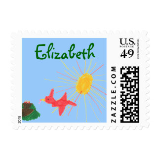 Karate Kat bird's nest ID stamp--to personalize Stamps