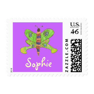 Karate Kat butterfly ID stamp--to personalize