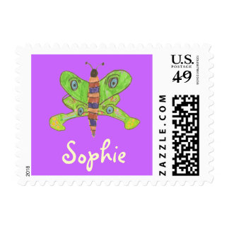 Karate Kat butterfly ID stamp--to personalize Stamps