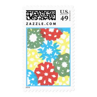 Karate Kat color flurry Postage Stamps