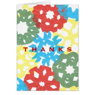 Karate Kat color flurry thank-you Cards