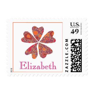Karate Kat flowering heart ID stamp