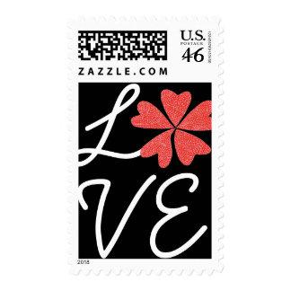 Karate Kat flowering-heart love stamp