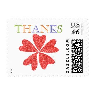 Karate Kat flowering heart thank-you Stamp