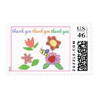 Karate Kat garden thank-you Postage Stamps