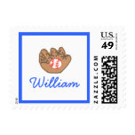 Karate Kat Graphics baseball ID stamp--personalize Postage