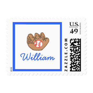 Karate Kat Graphics baseball stamp--to personalize Postage
