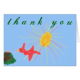Karate Kat Graphics bird's nest thank-you Cards