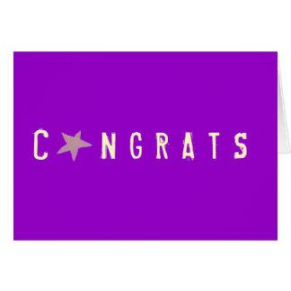 Karate Kat  Graphics congrats card