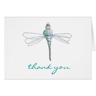 Karate Kat Graphics dragonfly thank-you Card