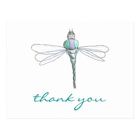 Karate Kat Graphics dragonfly thank-you Postcard