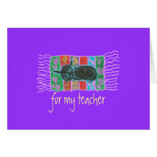 "Karate Kat Graphics ""for my teacher"" Card"