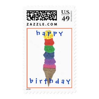 Karate Kat Graphics ice cream birthday stamp