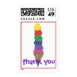 Karate Kat Graphics ice cream thank-you Postage Stamp