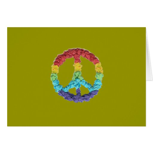 Karate Kat Graphics peace Stationery Note Card