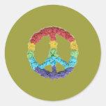 Karate Kat Graphics peace sticker