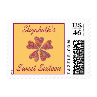 Karate Kat Graphics Sweet 16 Postage Stamp