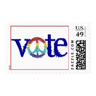 "Karate Kat Graphics ""vote"" stamp"