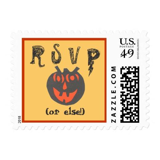 Karate Kat Halloween party stamp