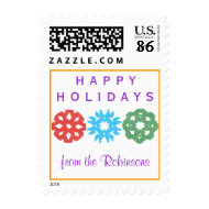 Karate Kat happy holidays--to personalize stamp