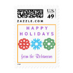 Karate Kat happy holidays--to personalize Postage